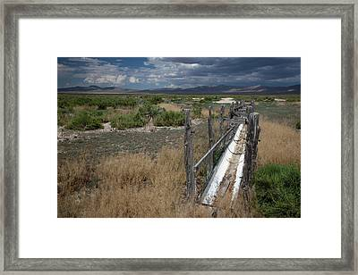 Dried-up Spring Framed Print