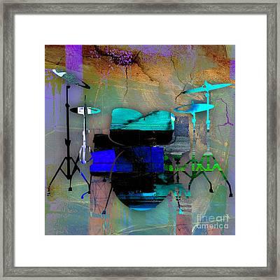 Drums Framed Print by Marvin Blaine