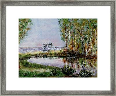 Fairhope Al. Duck Pond Framed Print