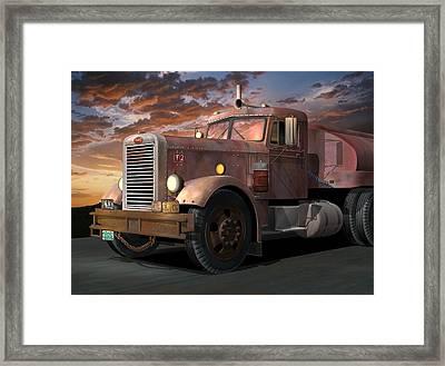 Duel Truck Framed Print by Stuart Swartz