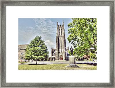 Duke Chapel In Spring Framed Print