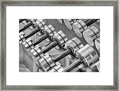 Dumbbells Framed Print