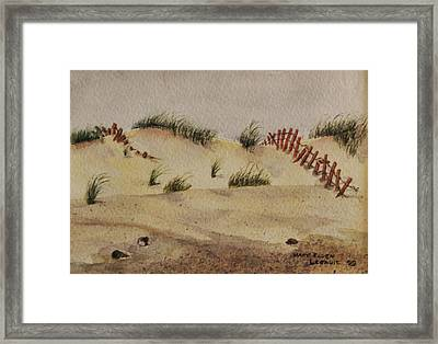 Framed Print featuring the painting Dunes by Mary Ellen Mueller Legault