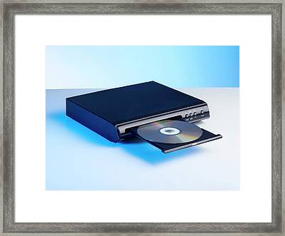 Dvd Player Framed Print by Science Photo Library