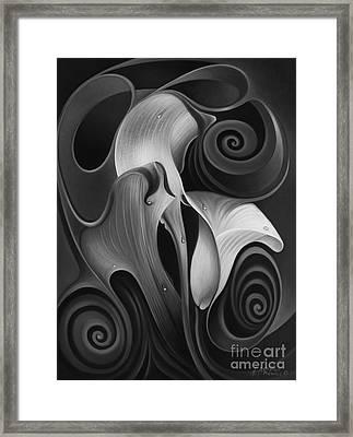 Dynamic Floral 4 Cala Lilies Framed Print by Ricardo Chavez-Mendez