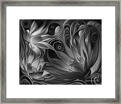 Dynamic Floral Fantasy Framed Print by Ricardo Chavez-Mendez