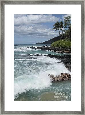 E Lei Kau E Lei Hoolilo I Ke Aloha Paako Framed Print by Sharon Mau