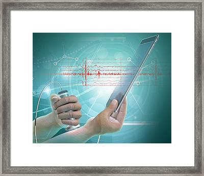 E-medicine Framed Print by Claus Lunau