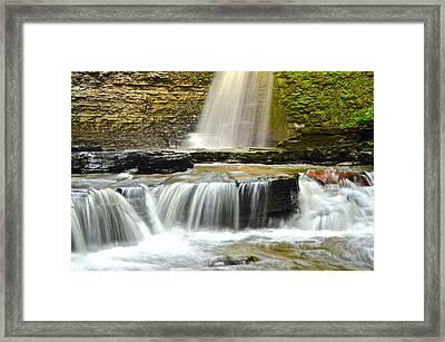 Eagle Cliff Falls Framed Print