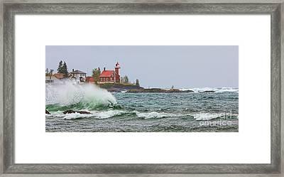 Eagle Harbor Lighthouse Framed Print by Jack Schultz