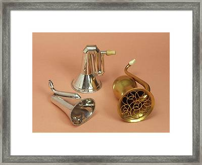Ear Trumpets Framed Print