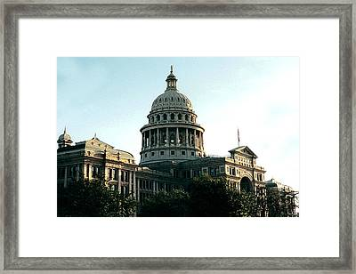 Early Morning At The Texas State Capital Framed Print by J D Owen