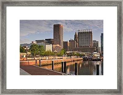 Early Morning Baltimore Inner Harbor Framed Print