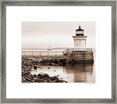 Framed Print featuring the photograph Early Morning Bug Light by Richard Bean