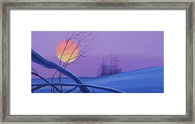 Silent Snow Framed Print