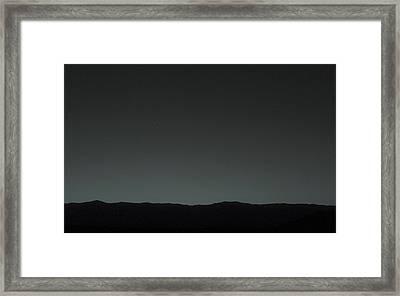 Earth From Mars Framed Print by Nasa/jpl-caltech/msss/tamu