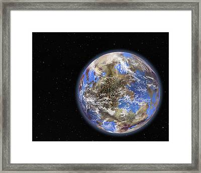 Earth-like Extrasolar Planet, Artwork Framed Print by Science Photo Library