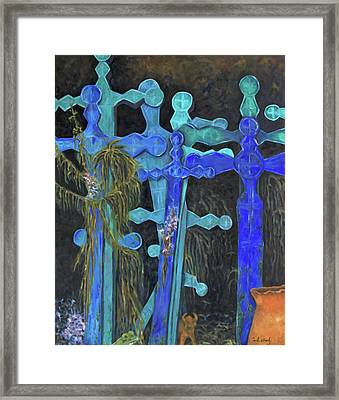 Framed Print featuring the painting Earth Lord Shrine by Carla Woody