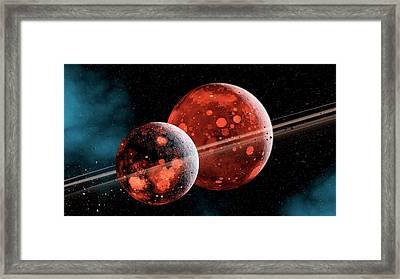 Earth-moon System Formation Framed Print