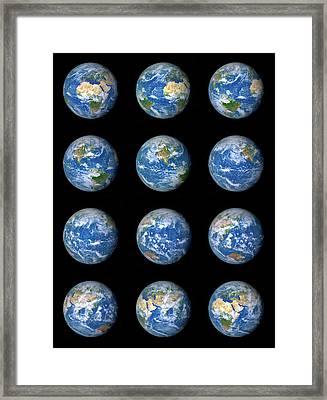 Earth's Rotation Framed Print