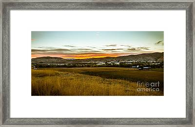 East End Of Emmett Valley Framed Print by Robert Bales