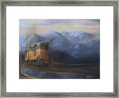 East Of The Belt Range Framed Print by Christopher Jenkins