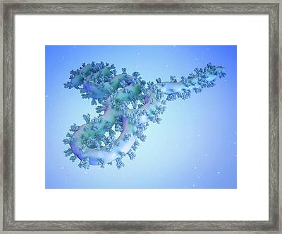 Ebola Virus Particle Framed Print by Maurizio De Angelis