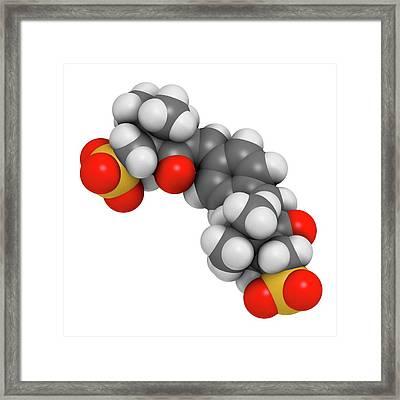 Ecamsule Sunscreen Molecule Framed Print by Molekuul