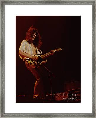 Eddie Van Halen - Van Halen At The Oakland Coliseum 12-2-1978 Rare Unreleased Framed Print