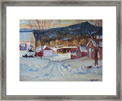 Framed Print featuring the painting Eddie's by Len Stomski
