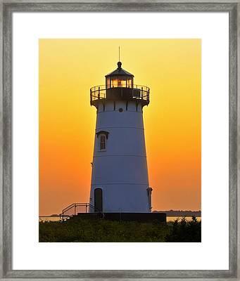 Edgartown Light Framed Print by Dan Myers