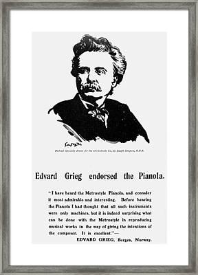 Edvard Grieg (1843-1907) Framed Print by Granger