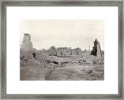 Egypt Karnak Ruins Framed Print by Granger