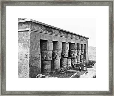 Egypt Temple Of Hathor Framed Print