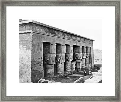 Egypt Temple Of Hathor Framed Print by Granger