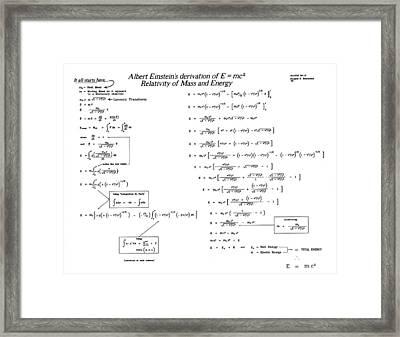 Einstein Framed Print by Douglas Beatenhead