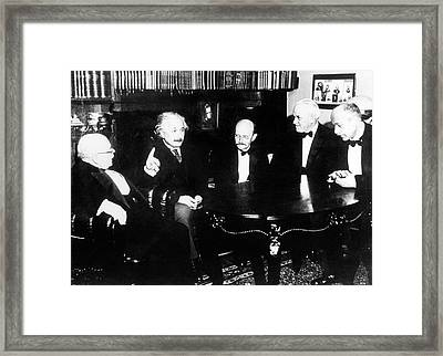 Einstein Framed Print by Emilio Segre Visual Archives/american Institute Of Physics