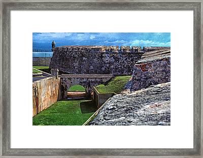 El Morro Fortress Old San Juan Framed Print by Thomas R Fletcher