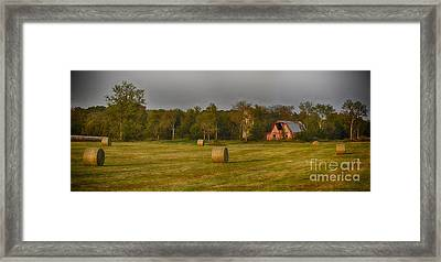 Elam Road Framed Print by Mike Baltzgar