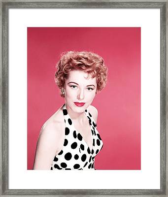 Eleanor Parker Framed Print by Silver Screen