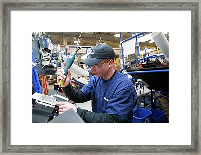 Electric Car Charging Station Assembly Framed Print