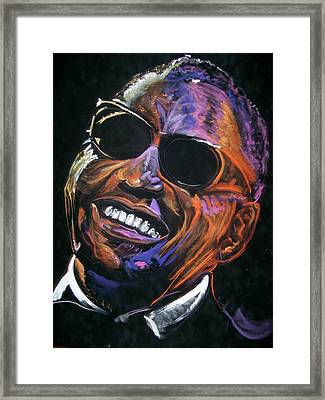 electric Ray Charles Framed Print