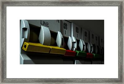 Electrical Circuit Breaker Panel Framed Print