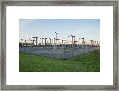 Electricity Substation Framed Print