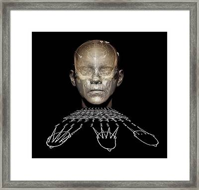 Electroencephalography Framed Print by Zephyr