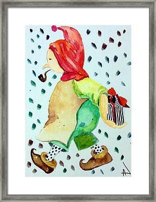 Elf Santa's Helper Framed Print by Patricia Lazaro