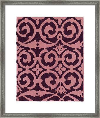 Elizabethan Ornament Framed Print by Litz Collection