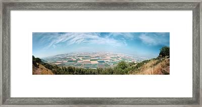 Emek Yizrael Panorama Framed Print