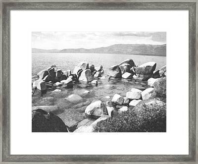 Emerald Waters Lake Tahoe Framed Print by Frank Wilson