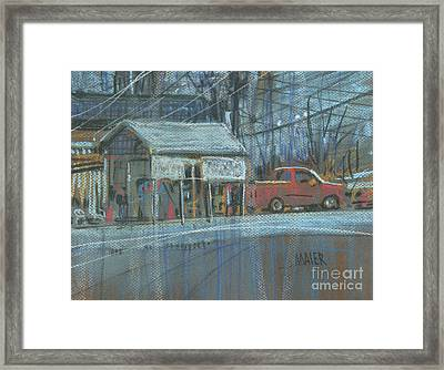 Framed Print featuring the painting Emissions Testing by Donald Maier